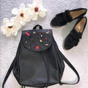 Atmosphere Black Backpack with Embellished Details